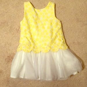 Janie and Jack yellow lace dress